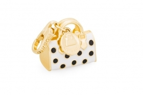 Rosato charm argetno bag gold-plated enamel white black RBA019