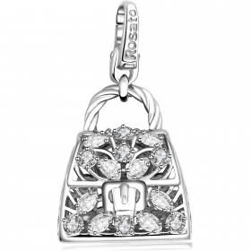 Rosato charm icons bag silver cubic zirconia RIC39