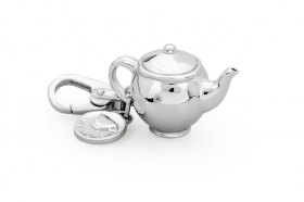 Pink silver charm teapot my ho