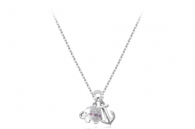 Rosato necklace silver is still the elephant cubic zirconia RSOA03
