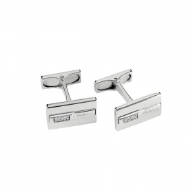 Salvini cufflinks in sterling silver with diamond 20061704