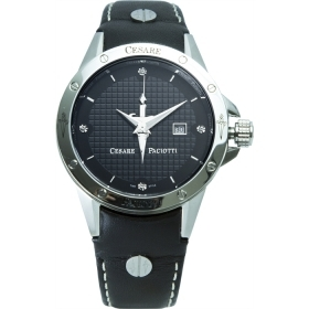 Cesare Paciotti Jewels mens watch steel case dater cint skin TSST001