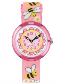Flik Flak watch girl in pink with bees DAISY BEE FBNP098