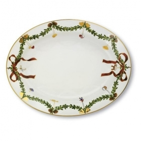 Royal Copenhagen oval dish christmas 2503375