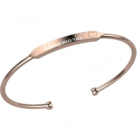 Nanan bangle silver pink possibility to affect nan0017