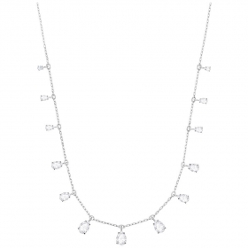 Swarovski Necklace Attract Pear, white, rhodium plating 5384371