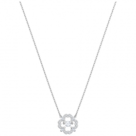 Swarovski Necklace Sparkling Dance Flower, white, rhodium plating 5392759