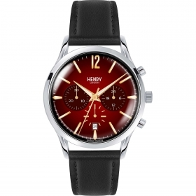 Henry London clock CHANCERY chrono leather strap HL41-CS-0099