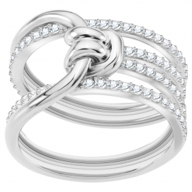 Swarovski Ring Lifelong Wide, white, rhodium plating mis 55 5392183