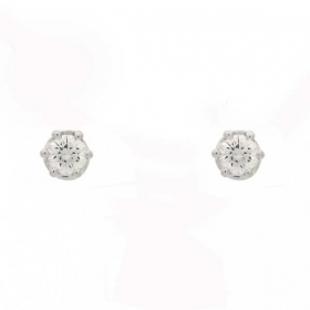 Salvini earrings gold diamonds 0.28 ct minerva s 20030988