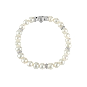 Salvini bracelet silver beads diamond 0.007 ct 20062004