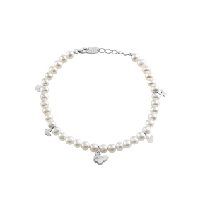 Salvini bracelet gold 9 kt pearls diamond 0.01 ct 20062860