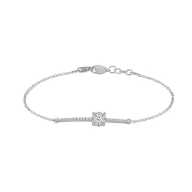 Salvini bracelet is the essential semi-rigid gold, white diamonds 0.23 ct 20067653