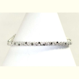 Salvini tennis bracelet gold white diamonds black 2.02 ct 20039204