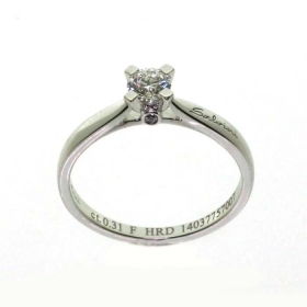 Salvini solitaire ring in whit