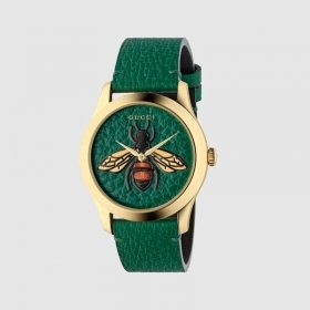 Gucci Watch G-Timeless 38mm case gold straps green YA1264065