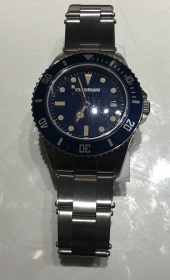 Macteam watch stainless steel 39 mm bezel blue quad blue 7963B