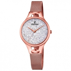 Festina woman watch mademoiselle stainless steel white crystals F20333/1