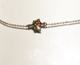 Gabriella Rivalta bracelet 18 k gold ladybug enamel great fire BR/SHARDS