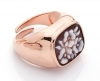 Cameo Italiano silver ring rose gold cameo Italian adjustable fit A23L