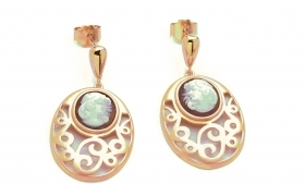 Cameo Italian pendant earrings