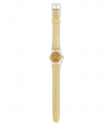Swatch watch women's gold GOLDEN GLISTAR TOO LK382