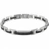 Bliss knit cuff man Admiral steel cubic zirconia black ip ct 20077515