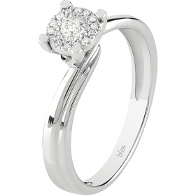 Bliss solitaire ring diamond 0,13 ct coll. Lumina 18kt white gold 20077813