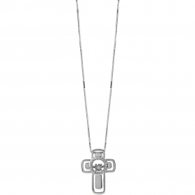 Bliss necklace cross woman whi