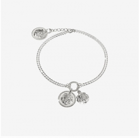 Rebecca bracelet in sterling silver with lion's head SLIBAA09