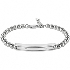 Bliss bracelet chain man Admiral rhodium diamond 0,005 ct 20077512