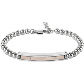 Bliss bracelet chain man Admiral rhodium diamond 0,005 ct 20077513