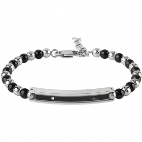 Bliss bracelet chain man Admiral rhodium diamond 0,005 ct 20077514