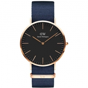 Daniel Wellington watch Classic Black 40mm Bayswater case pink DW00100277