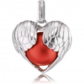 Engelsrufer charm women heart shape sterling silver with red sphere ERP-05-WINGHEART