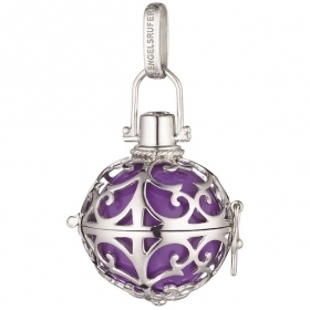 Engelsrufer charm called Angels silver ball purple customizable ER-08-M