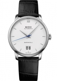 Mido watch baroncelli automatic steel case cint skin M027.42