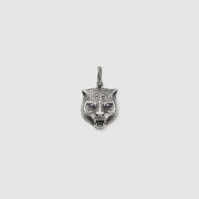 Pendant Gucci Garden with the head of a feline antique silver YBG52341800100U
