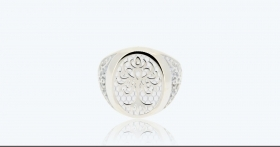 Ring large 925 Silver white Tree of Life 3A-ADV-B
