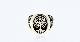 Ring in Silver 925 measure the great Tree of Life black 3A-ADV