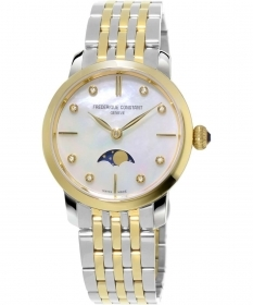 Frederique Constant Moonphase Watch quartz steel two-tone FC-206MPWD1S3B