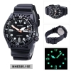 Citizen automatic watch case stainless steel black strap rubber black NH8385-11E