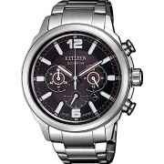 Citizen watch eco-drive men steel chrono CA4380-83E