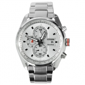 Citizen watch stainless steel eco-drive men chrono CA0360-58A