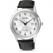 Citizen mens watch classic eco-driv black leather strap AW1231-07A