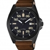 Vagary watch EXPLORE 43MM stainless STEEL BLACK LEATHER IB8-241-50