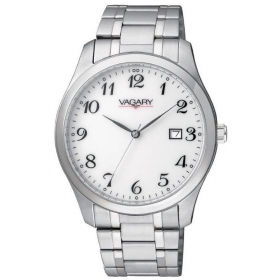 Vagary watch classic two-tone steel white dial date IH5-015-11