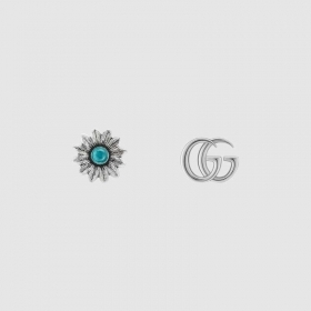 Gucci Earrings with flower and interlocking G silver YBD52734400100U
