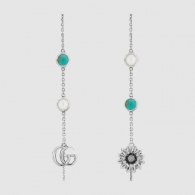 Gucci Earrings with flower and interlocking G YBD52740600100U