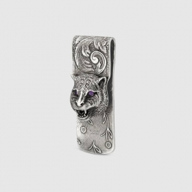Gucci Money clip Gucci the Garden with the head of a feline YBF52341200100U
